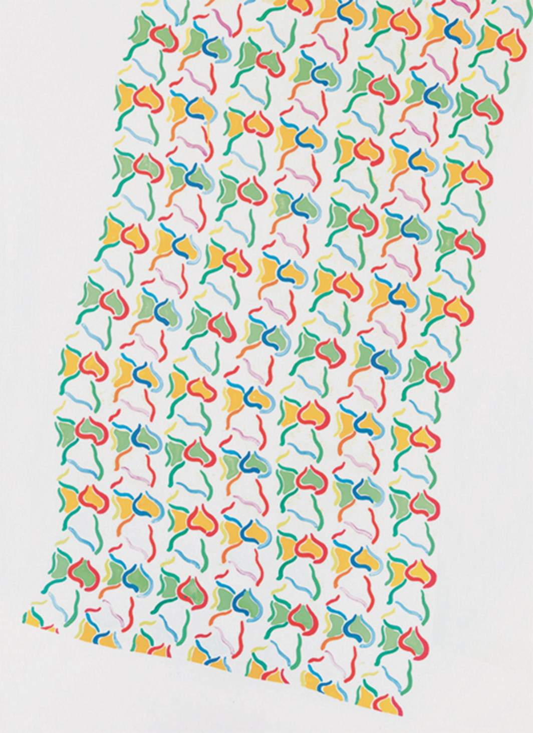 "Konrad Lueg, Handtuch (Hand Towel), 1965, casein on canvas, 78 3/4 x 57 1/8""."