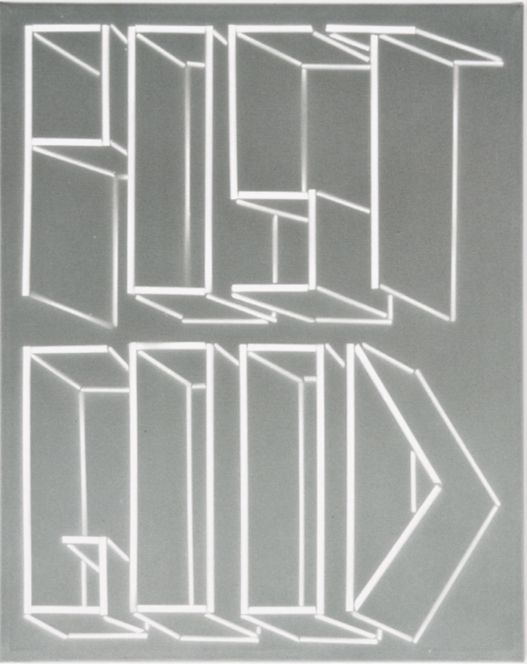 "Scott Reeder, Post Good, 2013, acrylic on canvas, 20 x 16""."