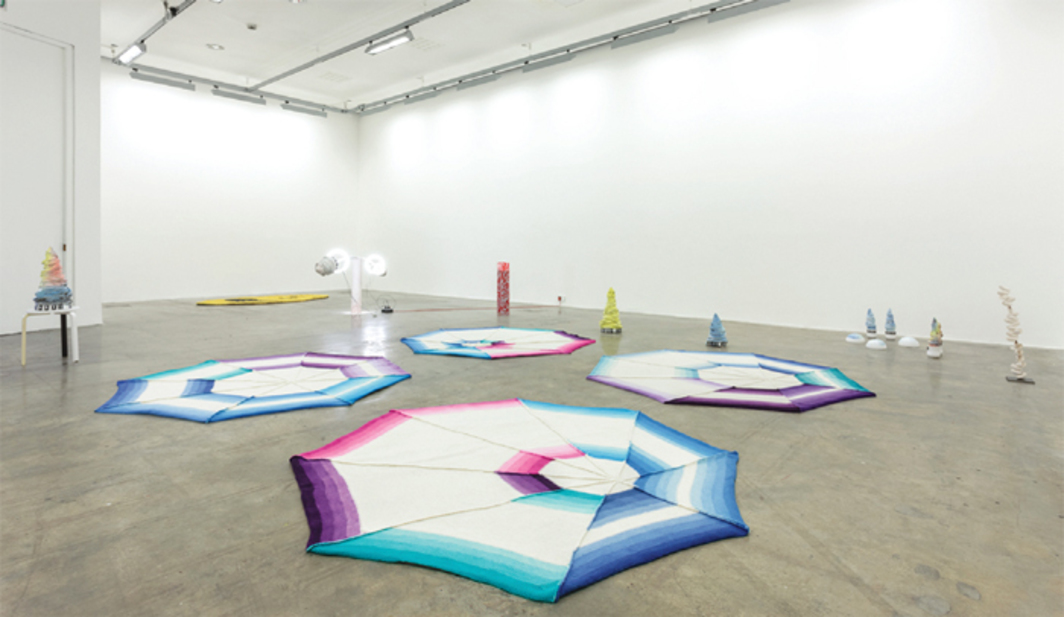 Jennifer Tee, Practical Magic, 2013, mixed media, dimensions variable. Installation view.