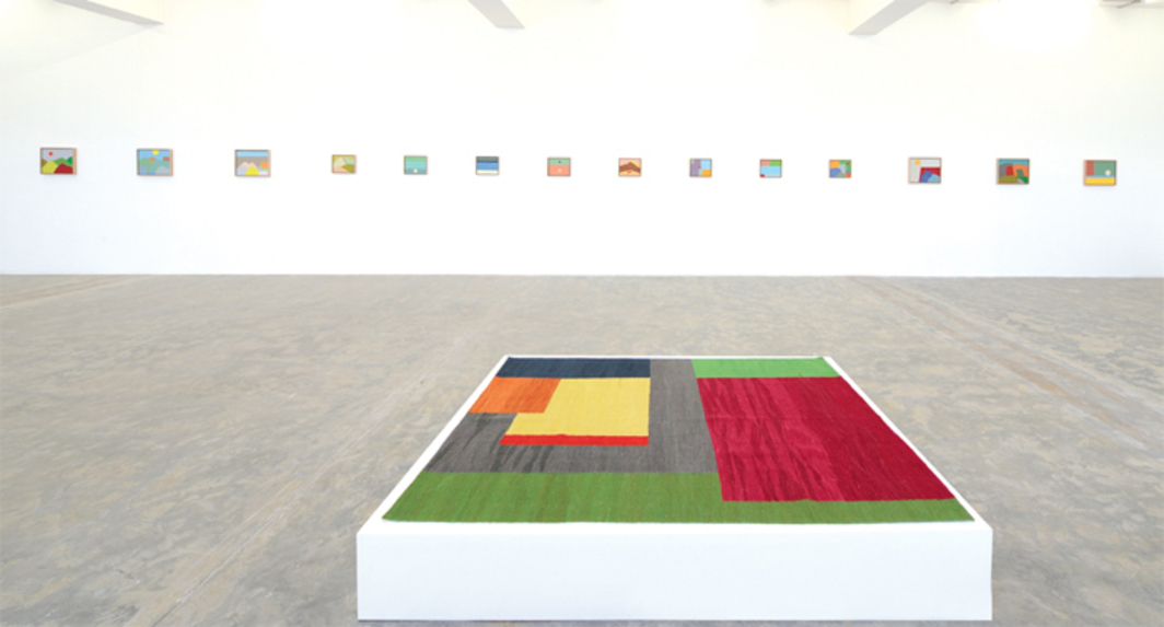 "View of ""Etal Adnan,"" 2013. Foreground: Untitled 1, 2013."