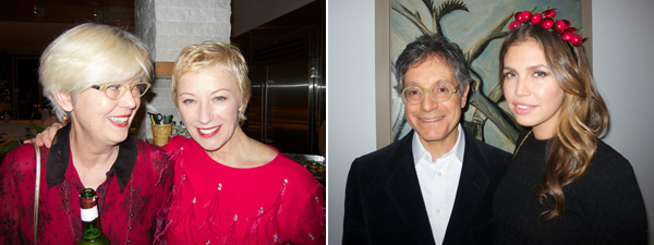 Left: Artists Louise Lawler and Cindy Sherman. Right: Dealer Jeffrey Deitch and collector Dasha Zukhova. (All photos: Linda Yablonsky)