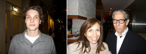 Left: Dylan Brant. Right: Writers Dodie Kazanjian and Calvin Tomkins.