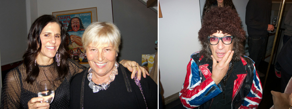 Left: Artist Judy Hudson and collector Nedda Young. Right: Photographer Jonny Rozsa.
