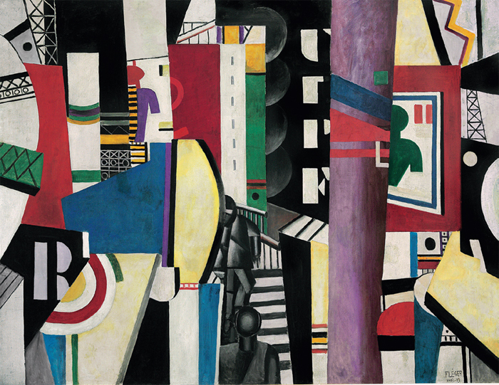 "Fernand Léger, La Ville (The City), 1919, oil on canvas, 91 x 117 1/2"". © Artists Rights Society (ARS), New York/ADAGP, Paris."