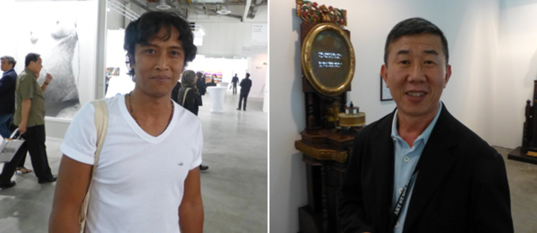 Left: ArtJog director Santriagama Rakantaseta. Right: Art Stage Singapore Taiwan Platform curator Rudy Tseng.