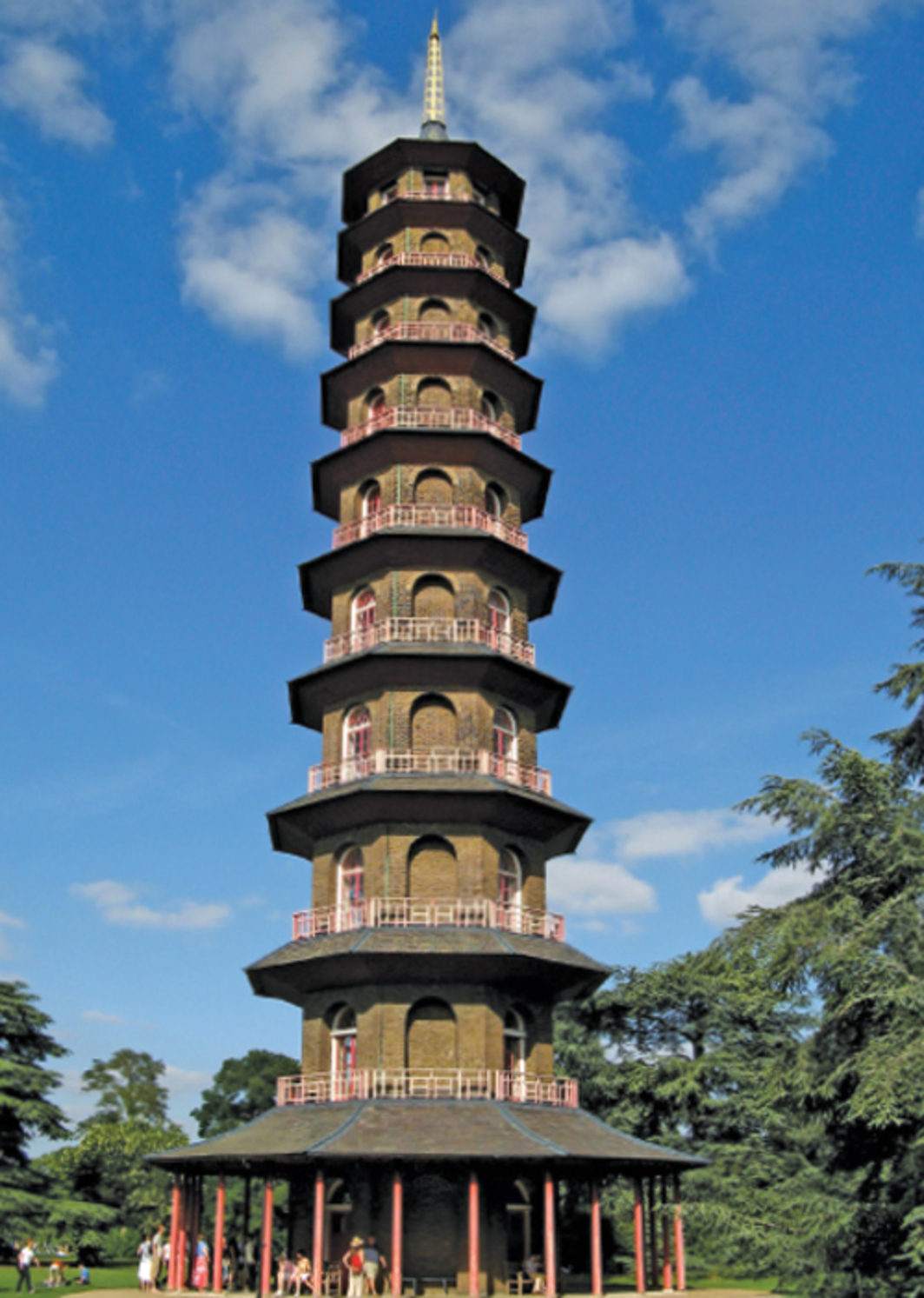 Sir William Chambers, Chinese Pagoda, 1762, Royal Botanic Gardens, Kew, London. Photo: C. Lansley/Flickr.