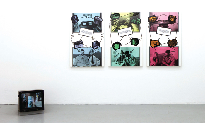Stephen Willats, In the Beginning, 2011, mixed media. Installation view.
