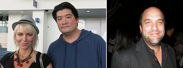 Left: Collector Christen Wilson and Richard Chang. Right: Collector Jose Noe Suro.