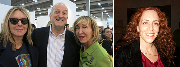 Left: Sarah Gore Reeves, Enrique Norten, and Patricia Marshall. Right: Viviana Kuri, director and chief curator of MAZ (Museum of Modern Art, Zapopan).