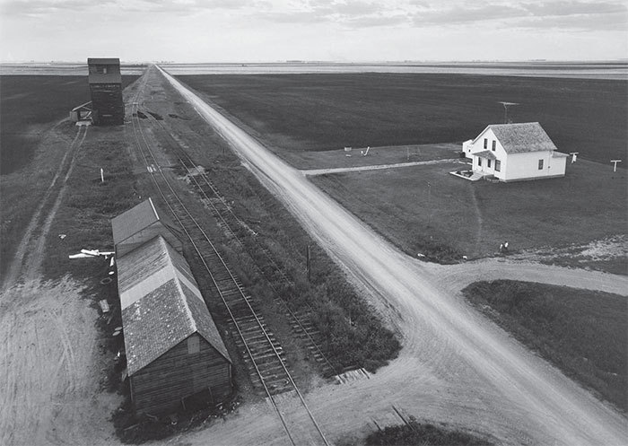 "John Szarkowski, From the Country Elevator, Red River Valley, 1957, black-and-white photograph, 10 5/16 x 13""."