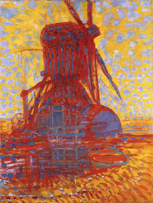 "Piet Mondrian, Windmill by Sunlight, 1908, oil on canvas, 44 7/8 x 34 1/4"". © 2004 Mondrian/Holtzman Trust."