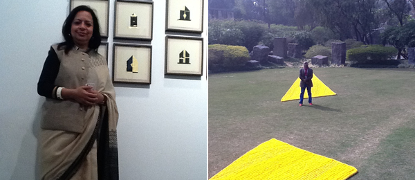 Left: Dealer Renu Modi, owner of Galerie Espace. Right: Artist and curator Bose Krishnamachari.