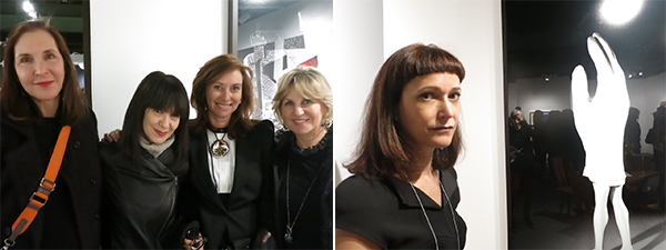 Left: Artist Laurie Simmons, Performa founder RoseLee Goldberg, and collectors Anita Zabludowicz and Wendy Fisher.  Right: Dealer Jeanne Greenberg Rohatyn.
