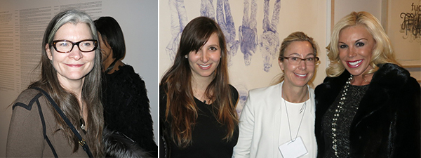 Left: SculptureCenter director Mary Ceruti. Right: Art Cart founder Hannah Flegelman, dealer Marianne Boesky, and collector Amy Phelan.