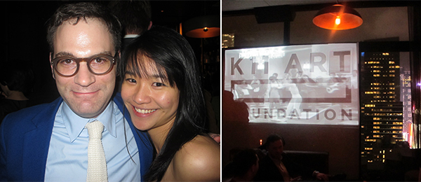 Left: Ullens Center for Contemporary Art director Philip Tinari and UCCA's Winnie Hu. Right: Scene at the Skylark.