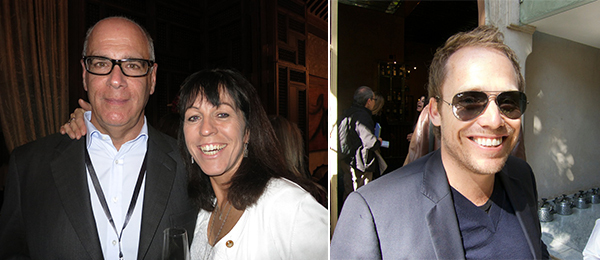 Left: Dealer Curt Marcus and television producer Jill Green. Right: Marrakech Biennale general director Stefan Holwe.