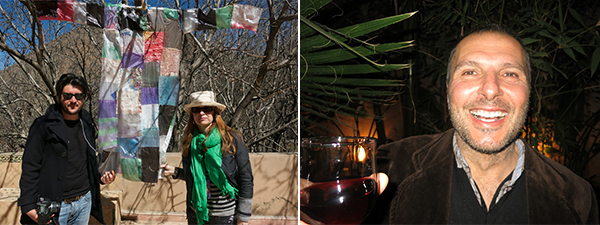 Left: Curator Alessandro Facente and UK film producer Aine Marsland. Right: Artist Angelo Bellobono.