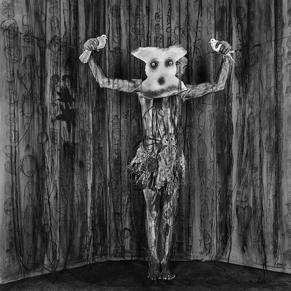 "Roger Ballen, Alter Ego, 2010, archival pigment print, 23 5/8 x 23 5/8"". From the series ""Asylum of the Birds,"" 2010."