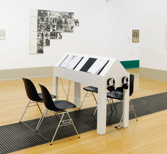 Margaret Harrison, Kay Hunt, and Mary Kelly, Women and Work: A Document on the Division of Labour in Industry 1973–1975, mixed media, dimensions variable. Installation view, Tate Britain, London, 2014.