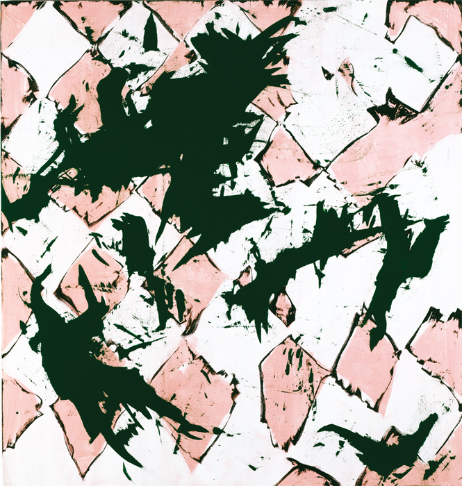 "Charline von Heyl, Blotto, 2004, oil on linen, 78 x 82""."