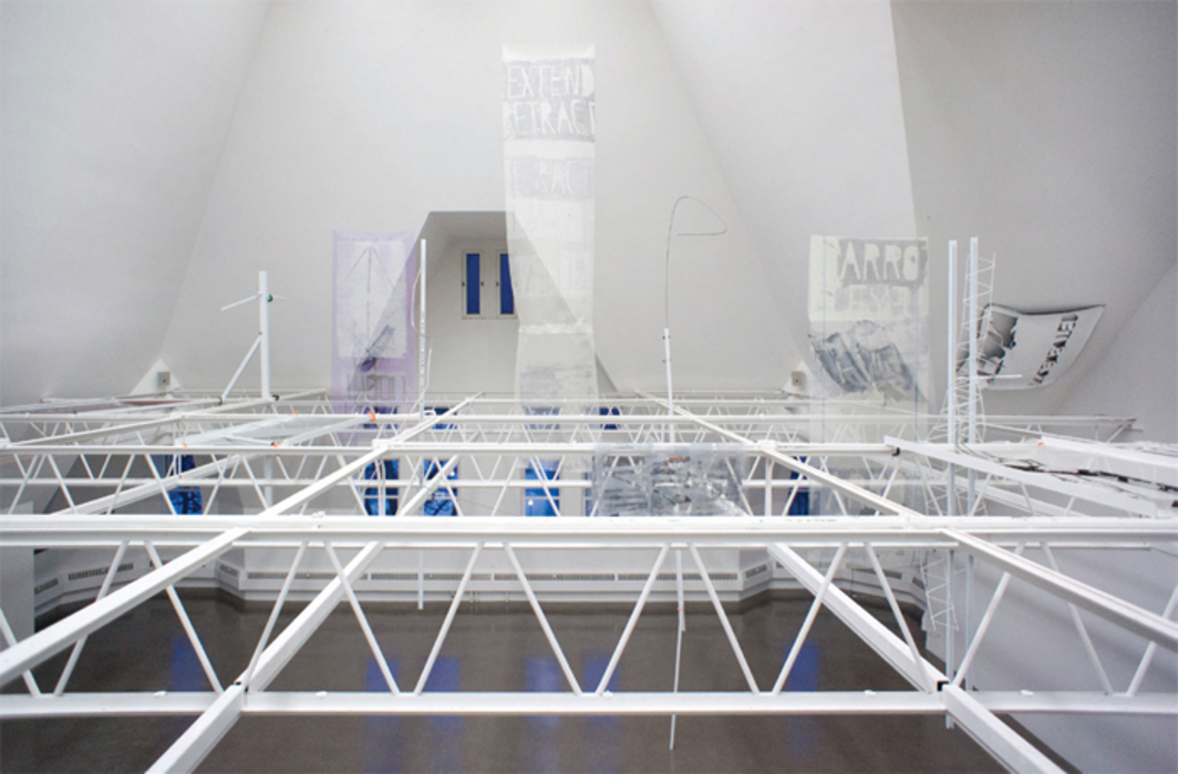 Nora Schultz, parrottree—building for bigger than real, 2014, mixed media. Installation view.