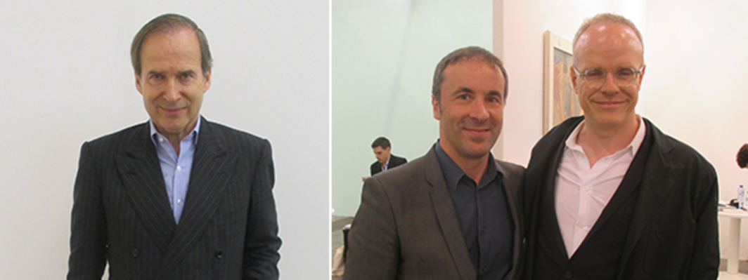 Left: Simon de Pury. Right: Lawyer Luc Saucier and Serpentine Gallery codirector Hans Ulrich Obrist.