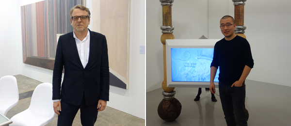 Left: Dealer Waling Boers. Right: Artist Sun Xun.