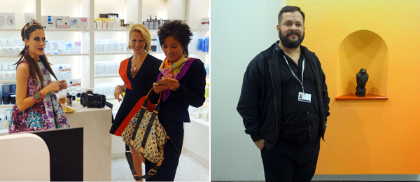 Left: Art Capsul curator Stacy Engman. Right: Dealer Javier Peres.
