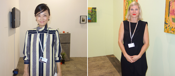 Left: Mujin-to Production's Mayumi Wakaguri. Right: Dealer Danae Mossman.