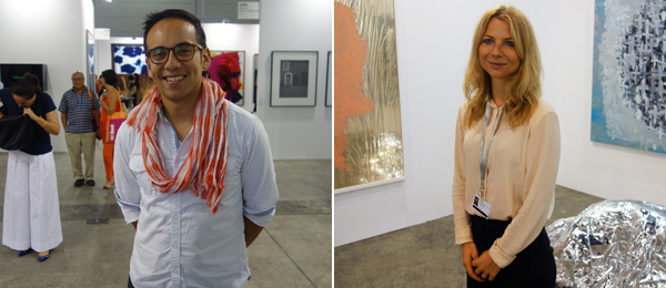 Left: Curator Inti Guerrero. Right: Karma International's Marina Leuenberger.