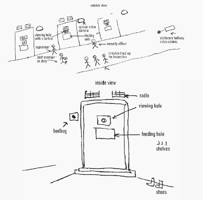 Diagram of Maria Alyokhina's pretrial jail, Moscow, 2012.