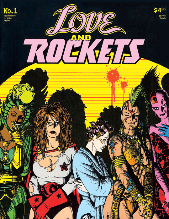 Cover of Jaime and Gilbert Hernandez's Love and Rockets, no. 1 (Fantagraphics, 1984).
