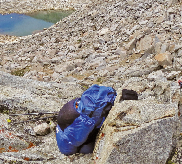 *The author's Gossamer Gear Ultralight Backpack.* Photo: Kim Stanley Robinson.