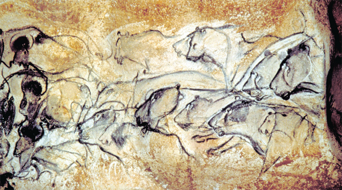 *Paleolithic painting from Chauvet Cave, Vallon-Pont-D'Arc, France, ca. 30,000 BC.* Photo: Carole Fritz and Gilles Tosello.