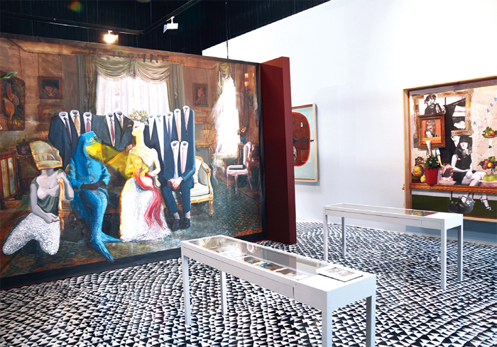 "View of ""Ramin Haerizadeh, Rokni Haerizadeh, and Hesam Rahmanian,"" 2014."