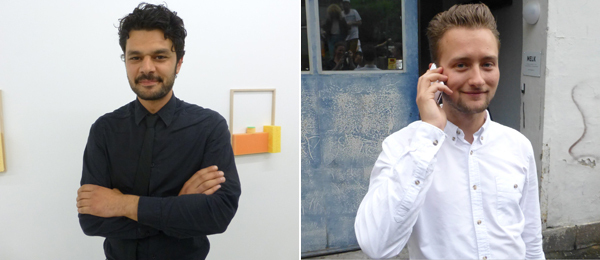 Left: Dealer Behzad Farazollahi at MELK. Right: Dealer Bjarne Bare at MELK.