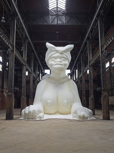 "View of ""Kara Walker: A Subtlety or the Marvelous Sugar Baby,"" 2014."