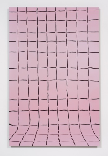 "Gina Osterloh, Grid # 6, 2014, archival pigment photographs with UV laminate mounted on colored acrylic panels, 45 3⁄4 x30""."