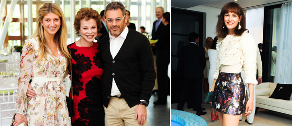 Left: Sarah Hoover, Nancy Magoon, and artist Tom Sachs. Right: Dealer Jeanne Greenberg-Rohatyn. (Photos: Billy Farrell/BFAnyc.com)