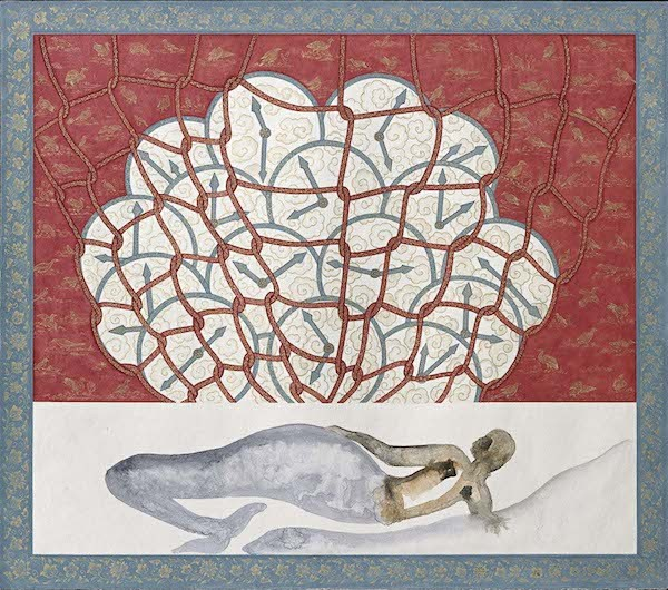 "Francesco Clemente, Sixteen Amulets for the Road (IX), 2012-2013, watercolor on paper, 19 3/5 x 22 2/5""."