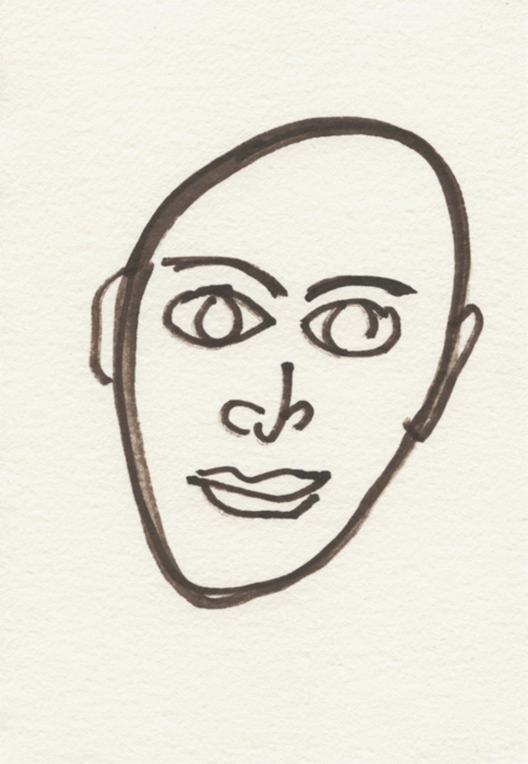 Hudson, drawn by Charles Ray, 2014.