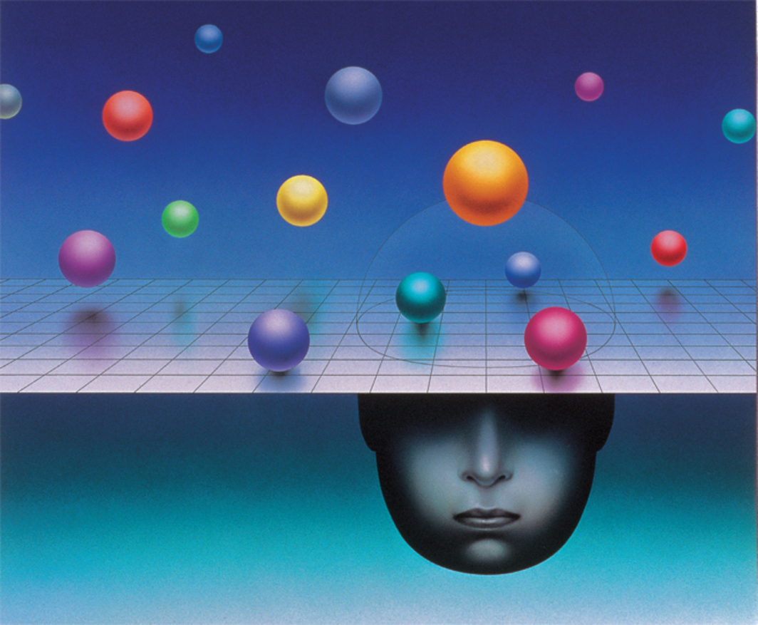 Illustration for Omni, December 1992. Stanislaw Fernandes.