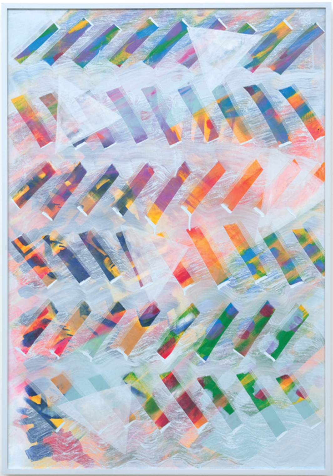 "Julia Dault, Magic Mountain, 2013, acrylic and oil on canvas, 61 1/2 × 42 1/2""."