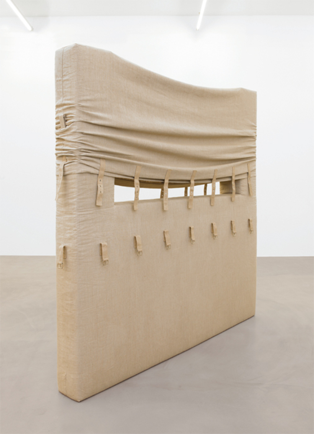 "Friedrich Teepe, 1980-10, 1980, cotton, foam, 87 × 87 × 9""."