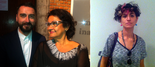 "Left: MALBA artistic director Agustín Pérez-Rubio and Videobrasil director Solange Farkas at the opening of ""Unerasable Memories"" at Sesc Pompeia. Right: Artist Nilba Gures at the opening of the Bienal de São Paulo."