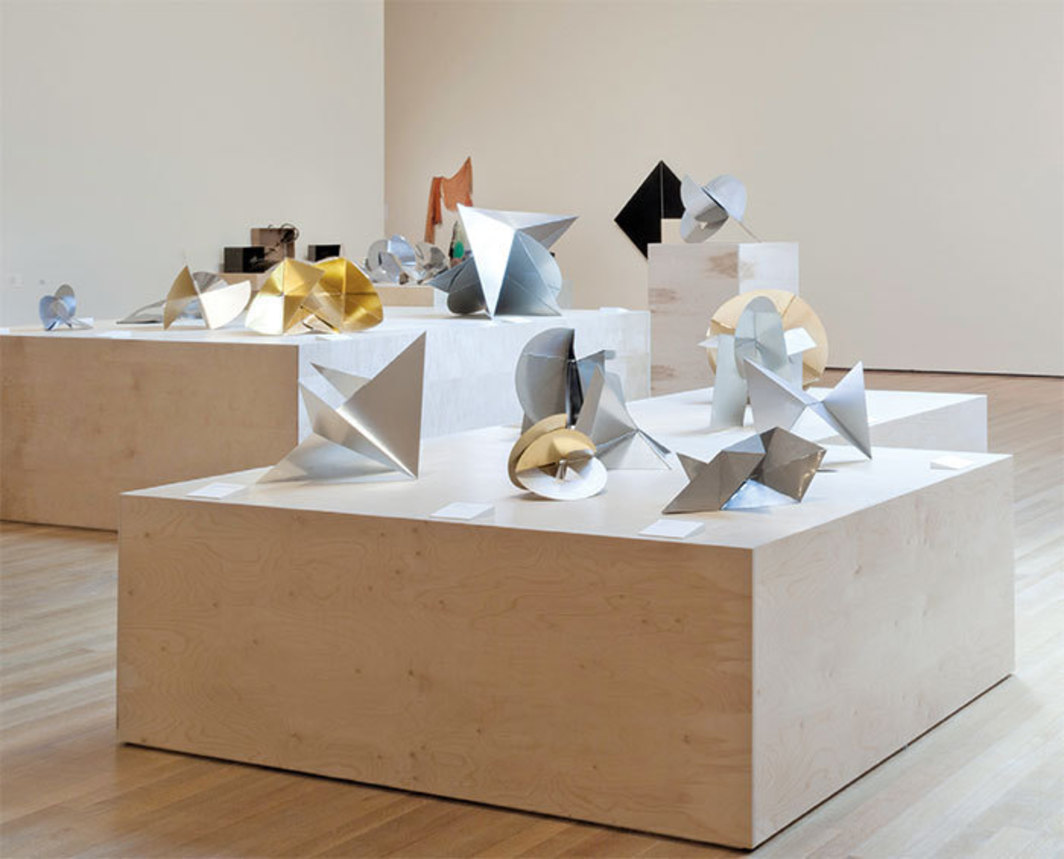 "View of ""Lygia Clark: The Abandonment of Art, 1948–1988,"" 2014. Works from the series ""Bichos"" (Beasts), 1960–66. Photo: Thomas Griesel."