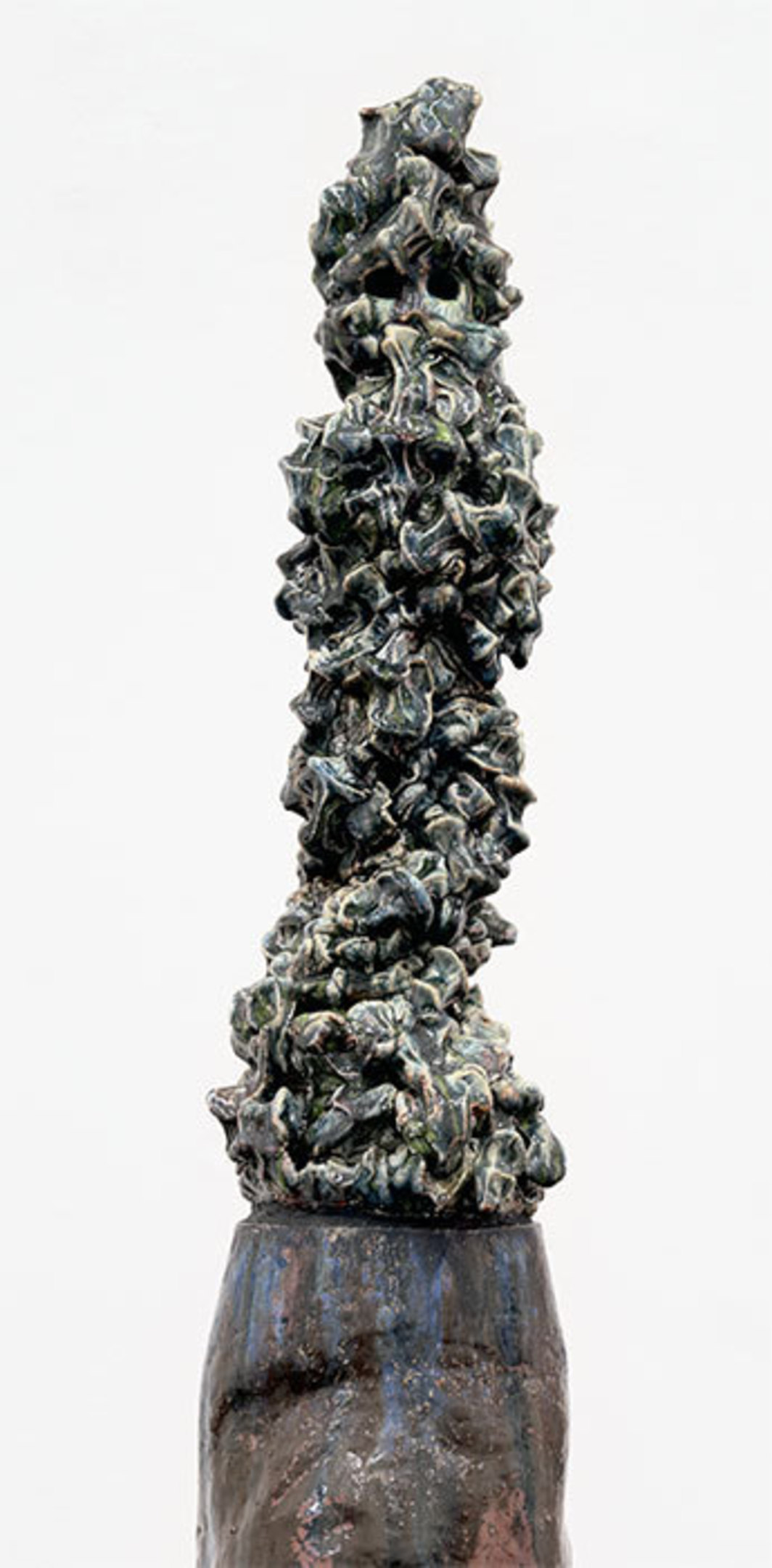 "Cameron Jamie, Untitled (detail), 2013, glazed stoneware, 61 3/4 × 12 1/4 × 12 1/4""."