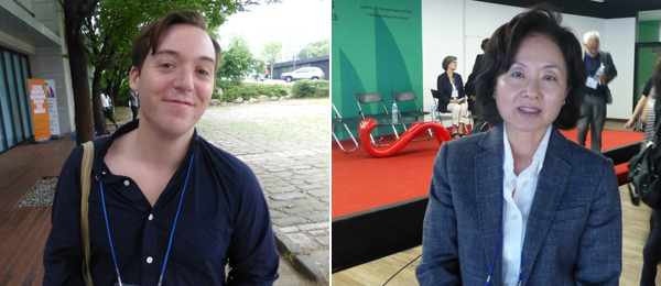 Left: Curator Joseph Gergel. Right: National Museum of Modern and Contemporary Art's Hyung-Min Chung.