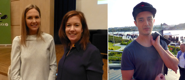 Left: BSI's Francesca Martinoli with Borusan's Kathleen Forde. Right: Promoter Tolga Albayrak.