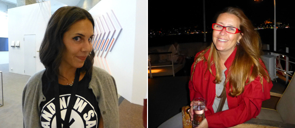 Left: Dealer Arzu Komili Baştaş. Right: Witte de With director Defne Ayas.